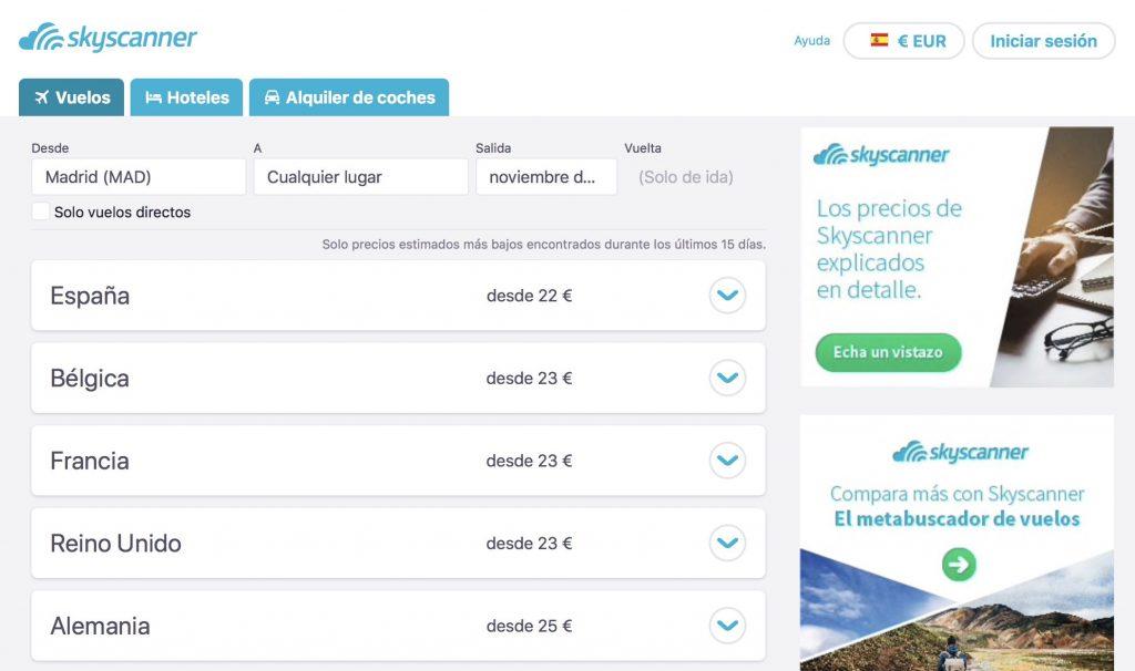 vuelos baratos en internet skyscanner
