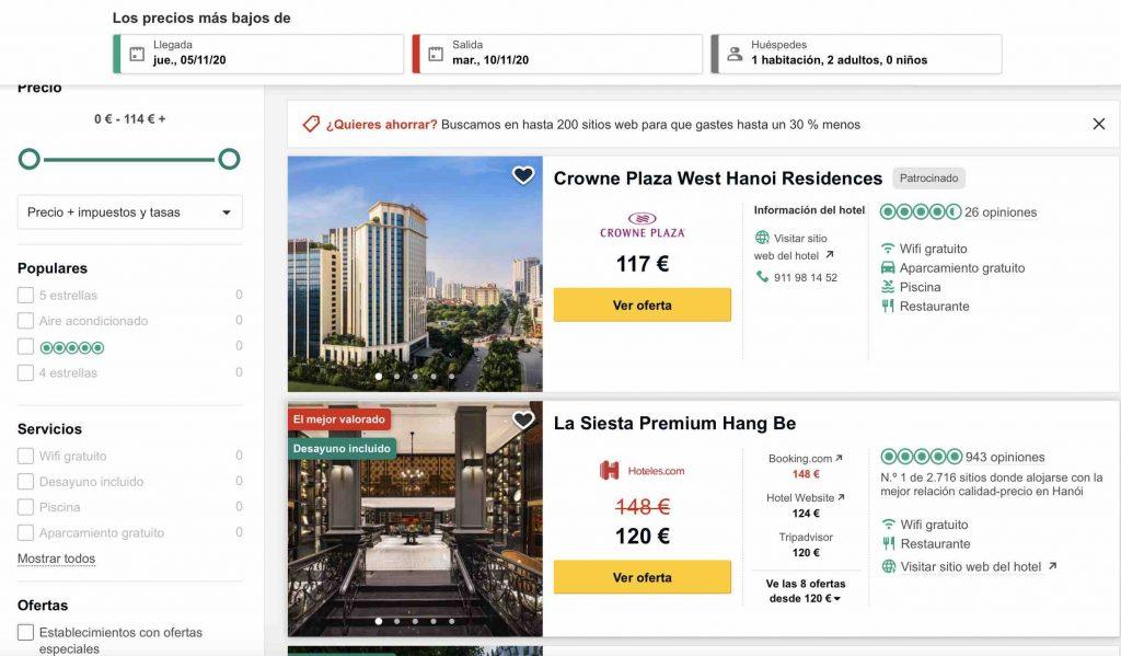 como buscar hoteles baratos en internet tripadvisor